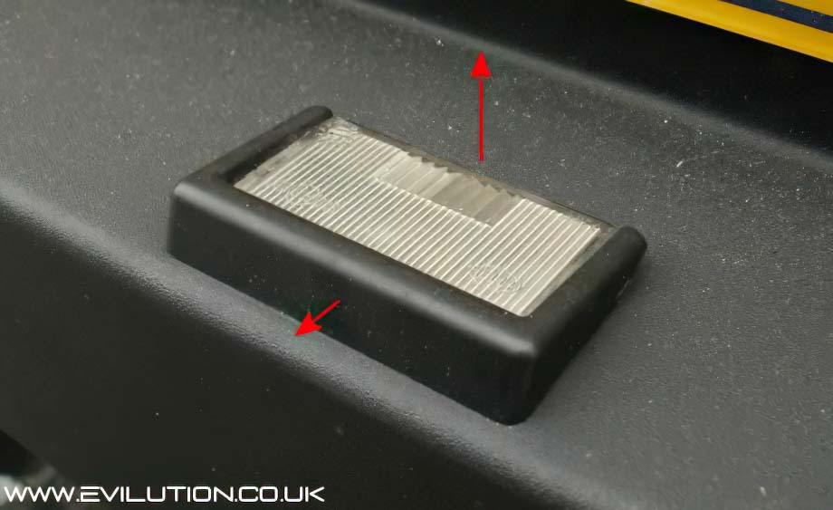 Chances are the licence plate bulb holders are loose in the holes itu0027s very common. If not you can either pull them towards you and lift the back or side ... & Evilution - Smart Car Encyclopaedia